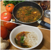 Rasam with Tomato-Tamarind Base